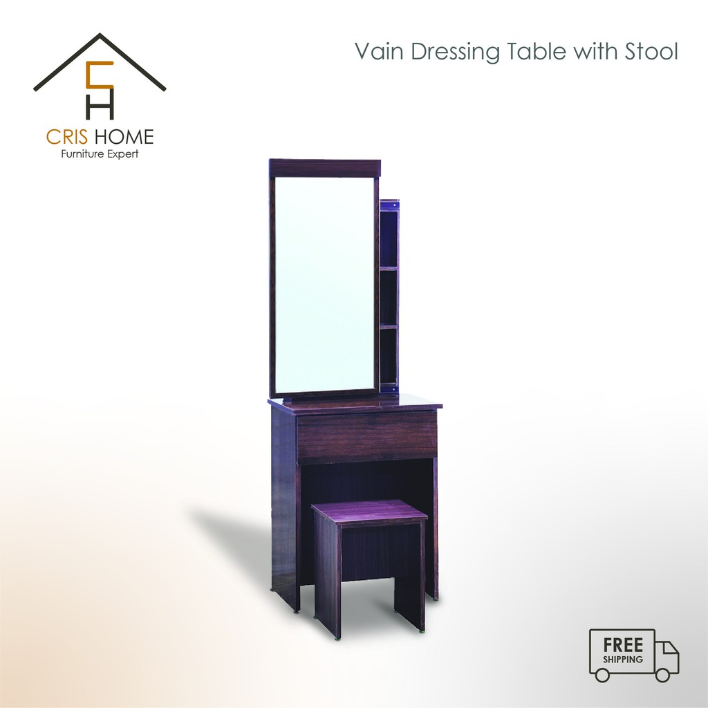 CrisHome - VAIN Dressing Table with Stool / Meja Solek ( Free Shipping to WM )