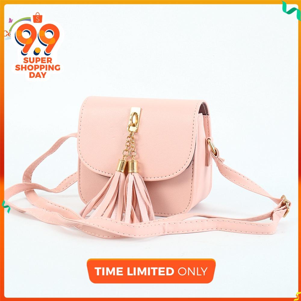 CL READY STOCK Women Tassel Pendants Sling Messenger Shoulder Bag