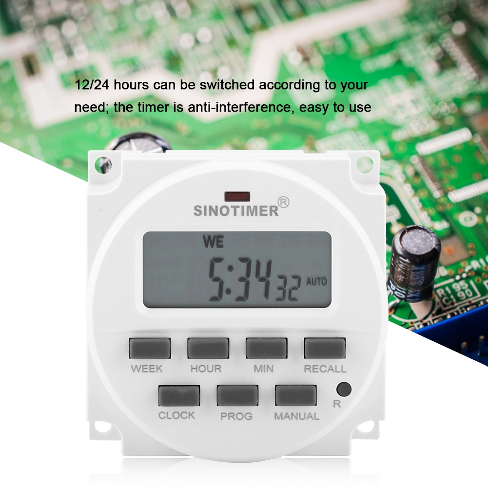 12V Digital Electric Durable Programmable Durable Timer