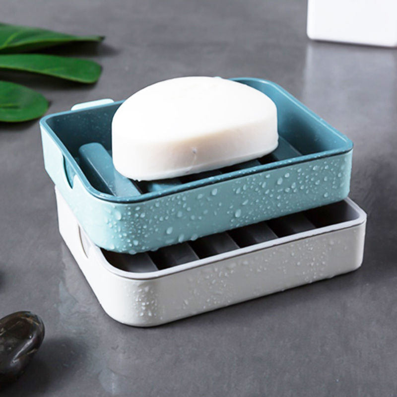 3M Soap Dish Holder Bathroom Toilet Soap Box Bracket DoubleLayer Leachate Design