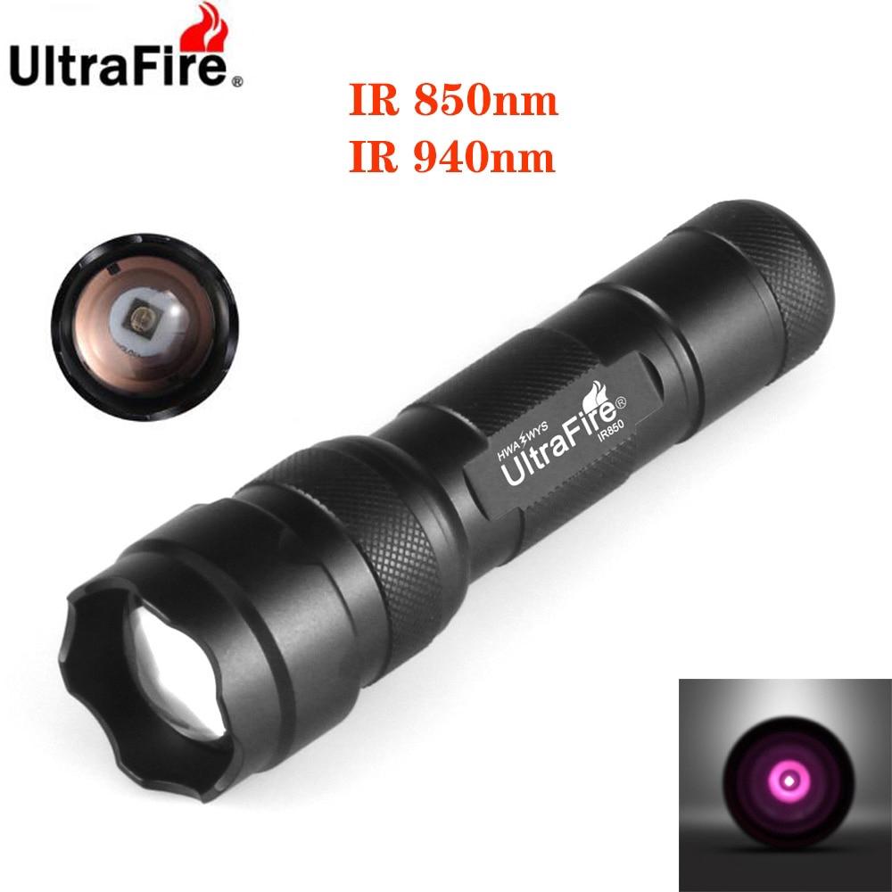 3W 850nm Infrared Radiation IR Night Vision LED Flashlight Hunting Torch Light