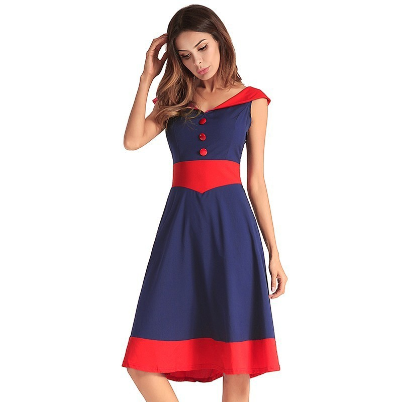 96d776b766567 Ruiyige Women 2018 Sexy Patchwork Casual Midi Dress Backless V Neck Summer