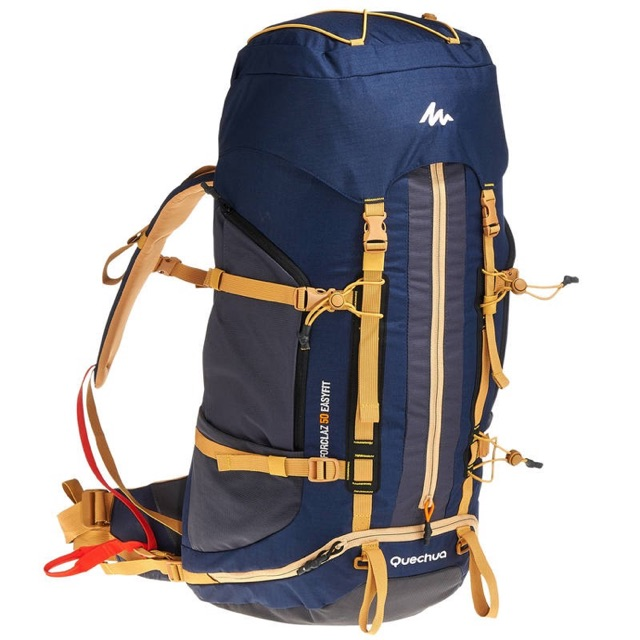 2d72acb61 QUECHUA FORCLAZ EASYFIT 50L ADULT HIKING BACKPACK BLUE