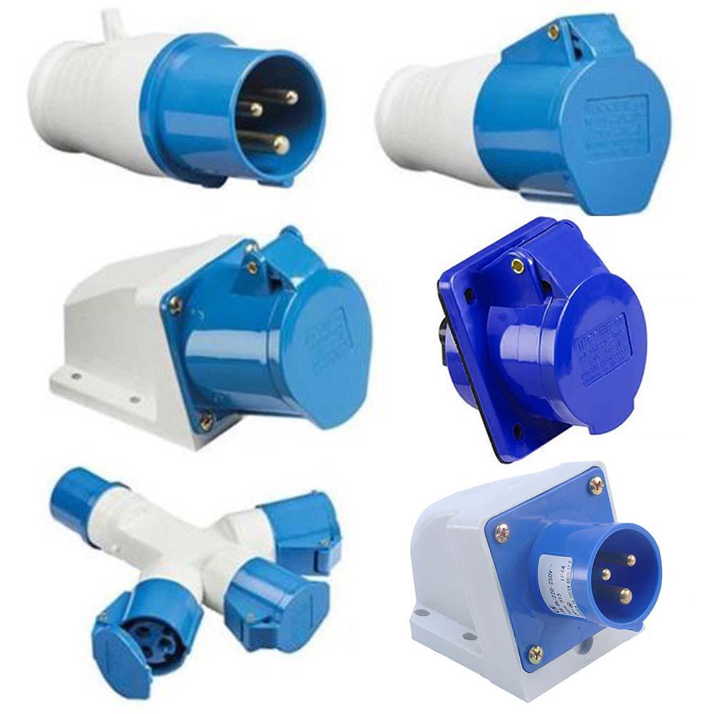 Industrial-Waterproof-Plug-16A-3-Pin-Industrial-Plug-Sockets-IP44-2P+E-Durable
