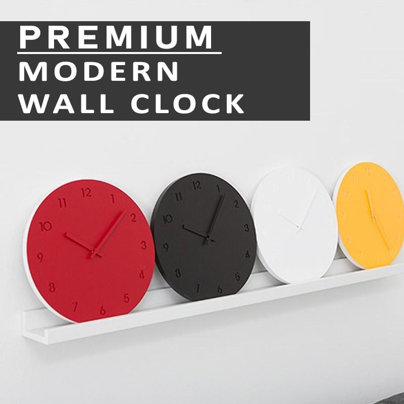 [Ready Stock] 30cm Wall Clock Jam Dinding Bulat Simple Moden /Suzuki Soundless Movement/Premium/DIY