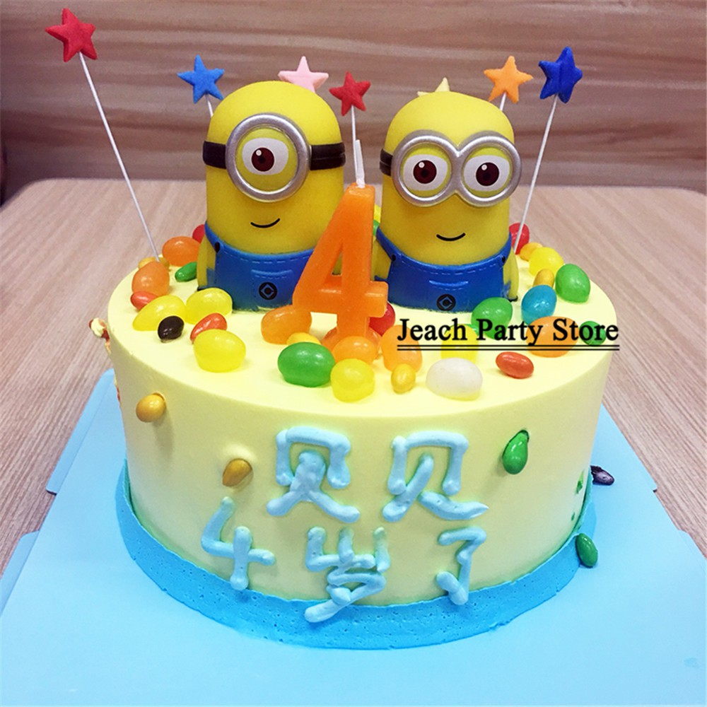 Sensational Minions Birthday Cake Topper Cake Decorating Children Kids Party Personalised Birthday Cards Cominlily Jamesorg
