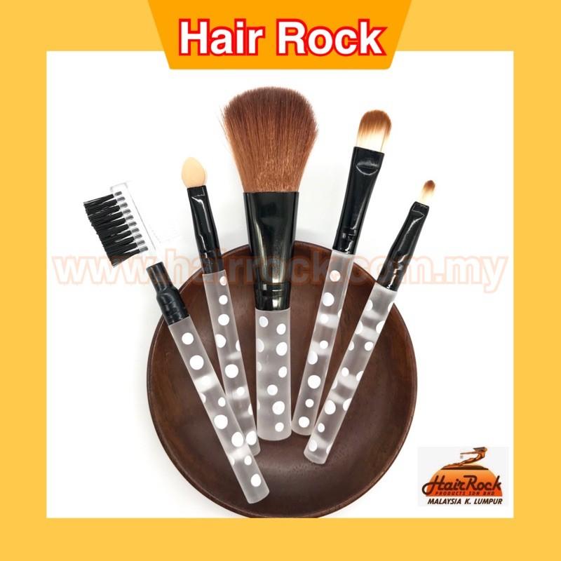 Ready Stock! 5pcs/Set Face Make Up Brushes Puffs Soft Makeup Tools Eyeshadow Lip