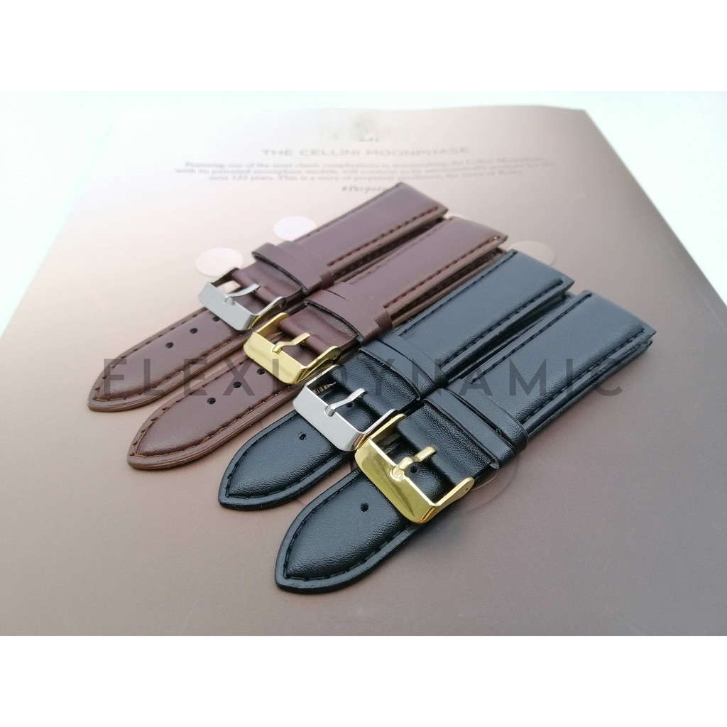 (Local Seller) 22mm Vintage Matte pattern Leather strap Watches band stainless steel Pin Buckle Wristwatch Strap
