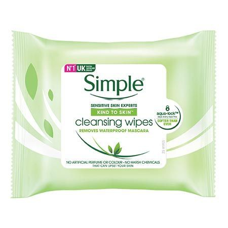 Simple Cleansing Facial Wipes 25\'s / 2x25\'s