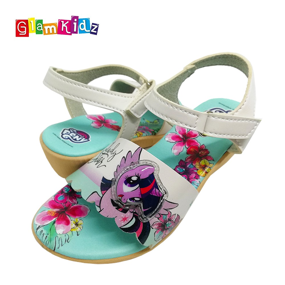 5e662ab4e27 My Little Pony Girls Shoes with LED   Sandals (Green)  6237