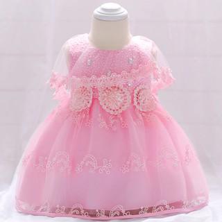 5cf4ca3ef620c Summer Infant Party Dress Girl Newborn s Baptism Clothes 1st ...