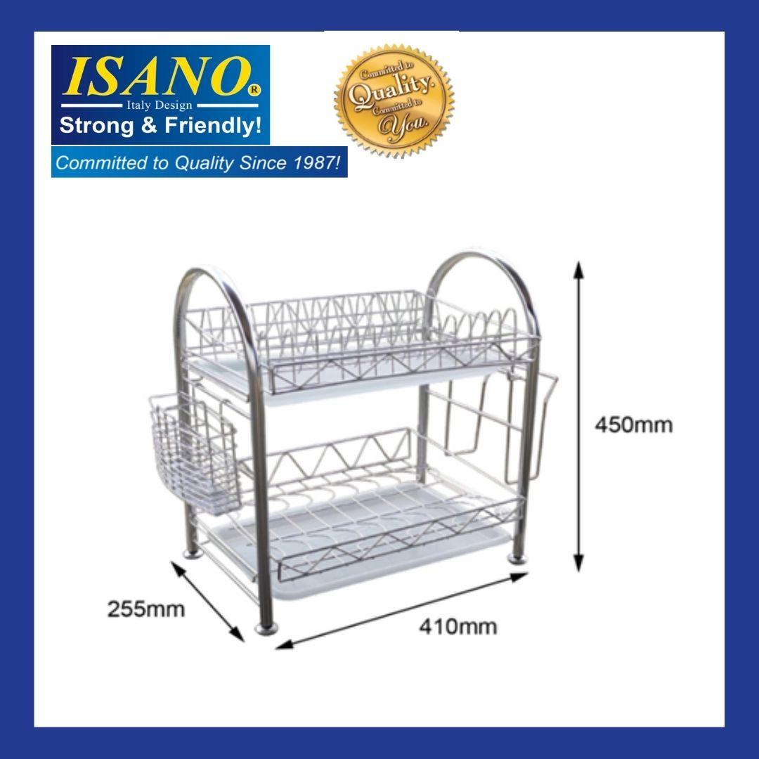 ISANO Stainless Steel double Layer Dish Rack 2002dr Rak pinggan 2 layer / rak 2 tingkat