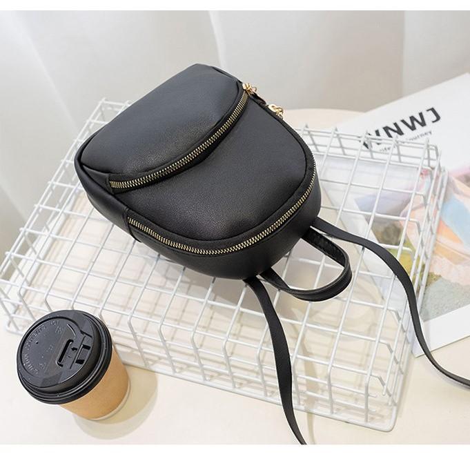 Korean Version Female Backpack Shoulder Bag Black Candy Colour BP0013