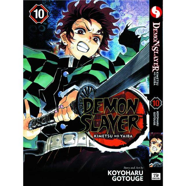 (READY STOCK)Komik demon slayer 1-10 eng set kimetsu no yaiba tanjiro inosuke zenitsu nezuko kanao manga comics
