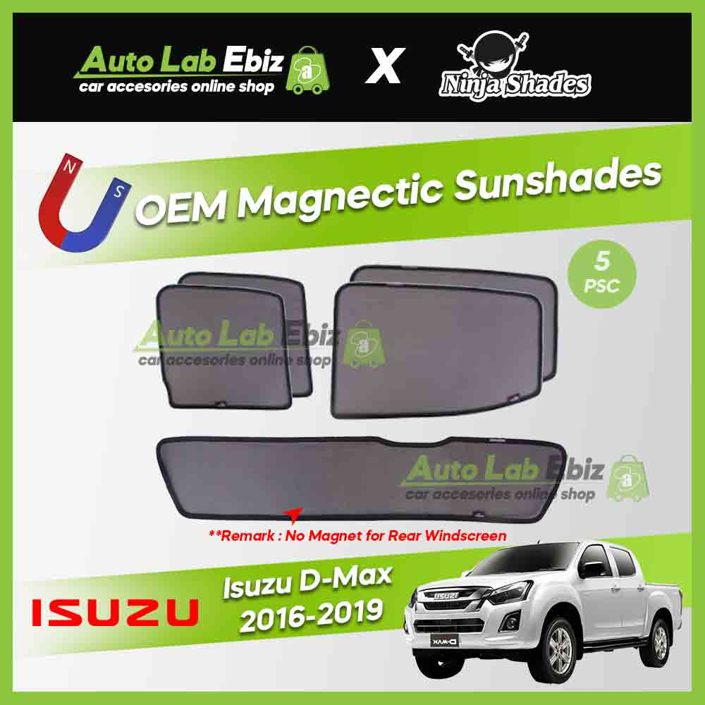 Isuzu DMAX 2016-2019 Ninja Shades OEM Magnetic Sunshades Foldable (5pcs/set)
