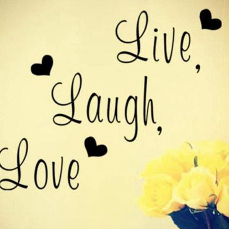 Wall Decal Creative Live Laugh Love Wall Stickers Fashion Living Room Home Decor Shopee Malaysia