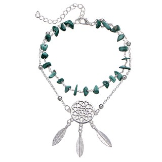2c6d2977ba0e6 Fashion Design Turquoise Catcher The Dream Feather Pendant Anklet ...