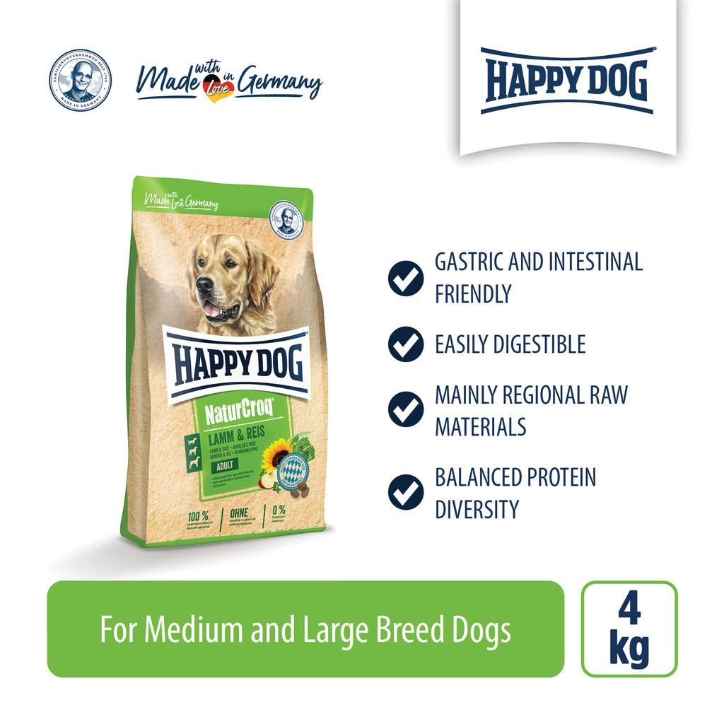 Happy Dog Premium Naturcroq Lamm & Reis (4kg)