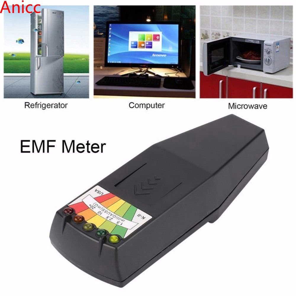 LED EMF Meter Magnetic Field Detector Ghost Hunting Paranormal Equipment  Tester-
