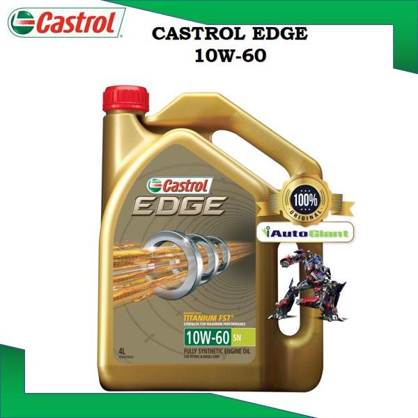 Castrol EDGE 10W-60 SN/CF Engine Oils for Petrol and Diesel Cars (4L) (100% ORIGINAL)
