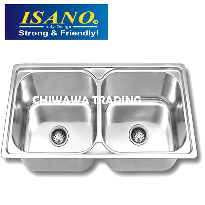ISANO B200 Stainless Steel Kitchen Sink Bowl Basin Drainer