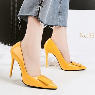 c5a69c88e8 Women Sexy Fetish High Heel Pumps Yellow Heels Scarpin Female Party ...
