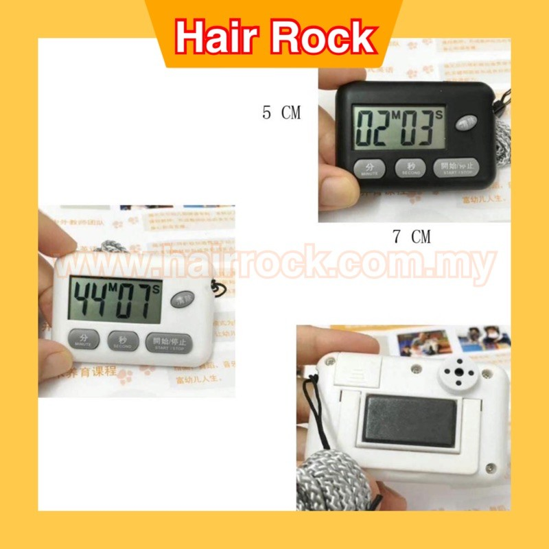 Professional Salon Use Magnetic Portable Digital Countdown Timer Clock Large LCD Screen Alarm