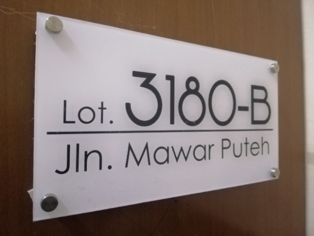 Acrylic Modern House Number & Address Sign