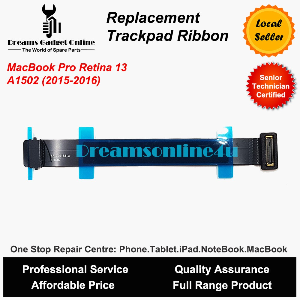 Replacement Touchpad Trackpad Flex Ribbon Cable MacBook Pro Retina 13 A1502  Year 2015 2016 821-00184-A