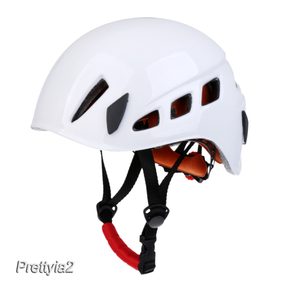 Safety Helmet Climbing Caving Rappelling Abseiling Rescue Hard Hat Orange