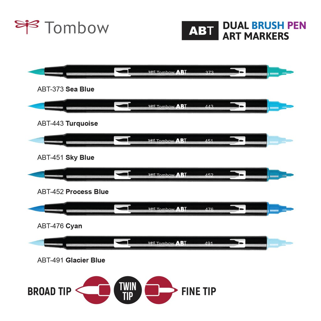TOMBOW ABT Dual Brush Pens Colors LIST Shopee Malaysia - Tombow abt
