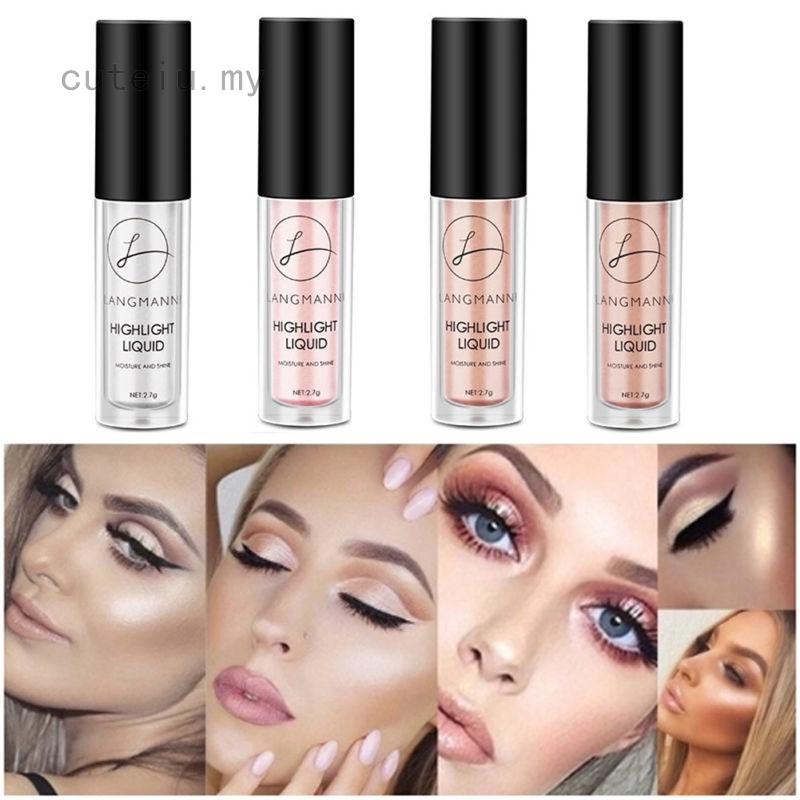 Cosmetic Face Eye Contour Brightener Glow Shimmer Gold Liquid Highlighter Makeup