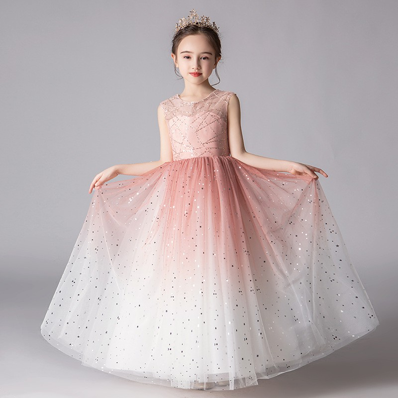 Toddler Girls Princess Skater Dress Wedding Formal Party Pageant Prom Lace 2-10Y