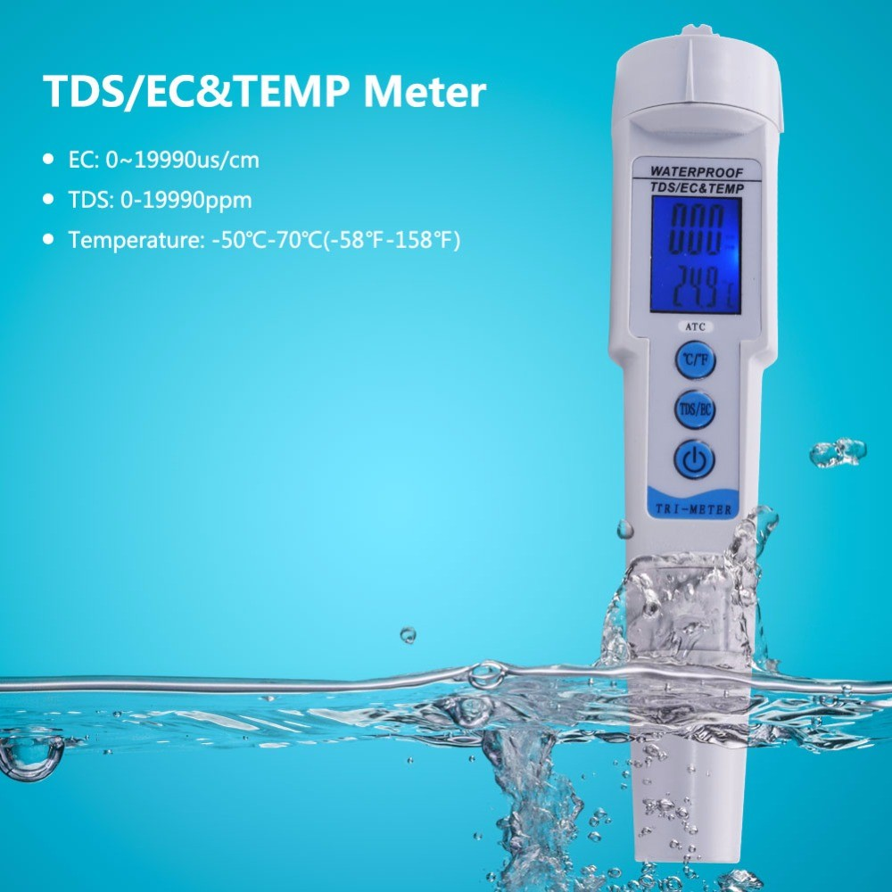Ec Meter Digital Water Tds Filter Measuring Quality With Temperature Dual Display Backlight Ez 2b Purity Automatic Shopee Malaysia