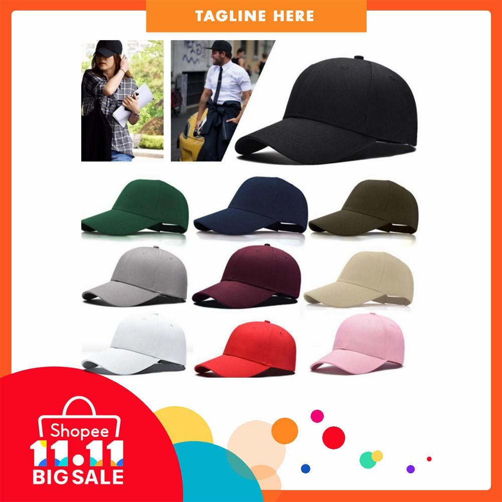 HST Baseball Cap Blank Hat Solid Color Adjustable Hat  788314ecf3ec
