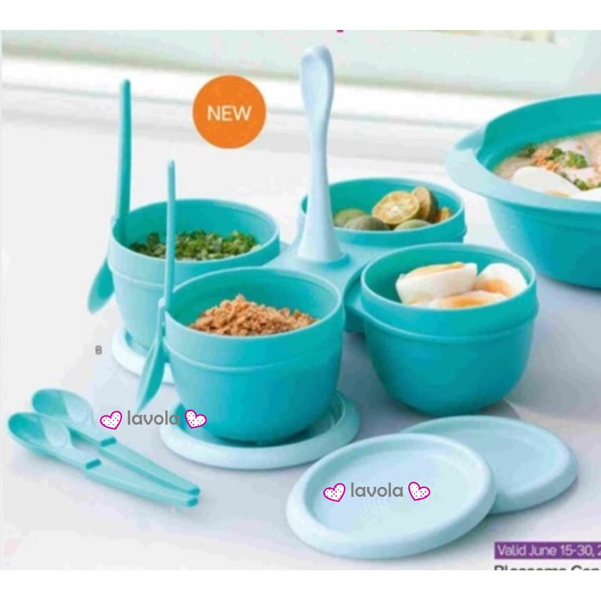 Tupperware Blossom Condimate with hang on spoon Set