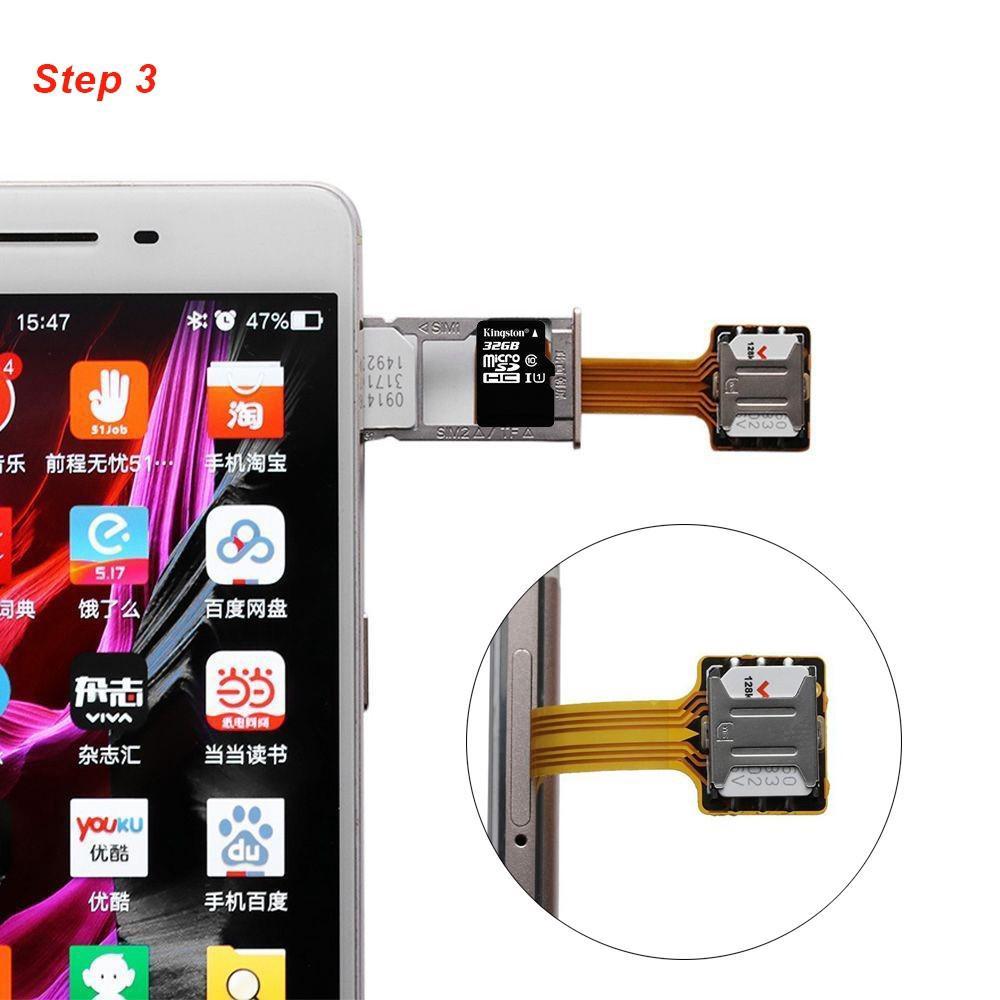 hot hybrid dual micro mini nano sim card adapter converter