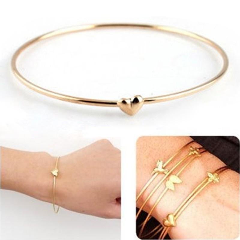 10PCS//Set Charm Women Bracelet Bangle Silver Gold Plated Cuff Jewelry Gift