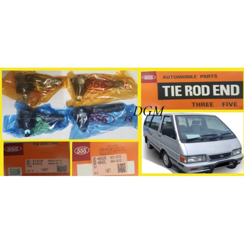 555 Nissan Vanette C22 Tie Rod End Outer & Inner SE-4101-RL/SE-4642-RL (Made In Japan) 2Pair 4Pcs