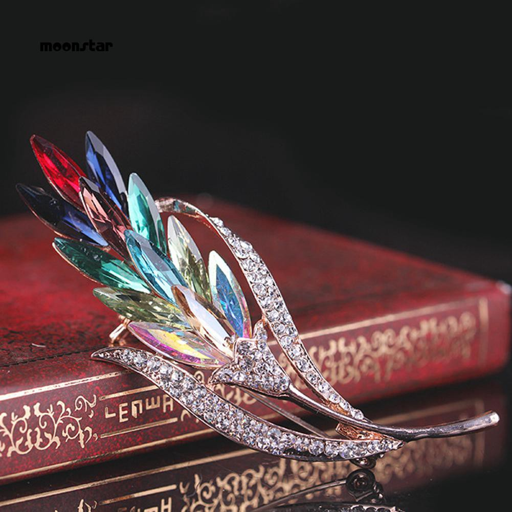 f6581cf55 ProductImage. ProductImage. Moonstar_Fashion Women Multi Color Glass Wheat  Flower Brooch Pin Coat Decor Jewelry Gift