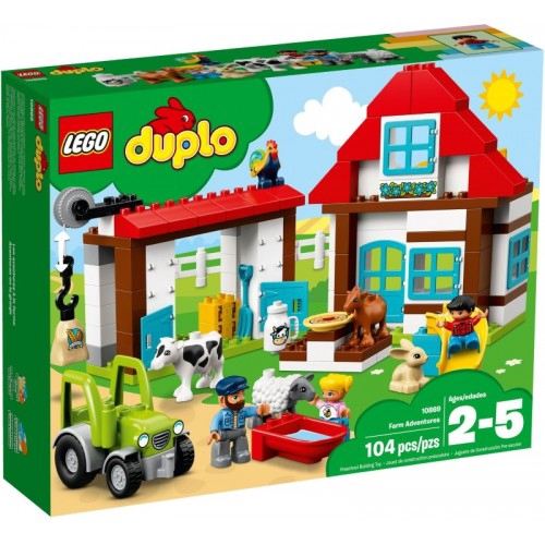 32 PCs building block farms /& barns set tractor high quality Duplo Compatible