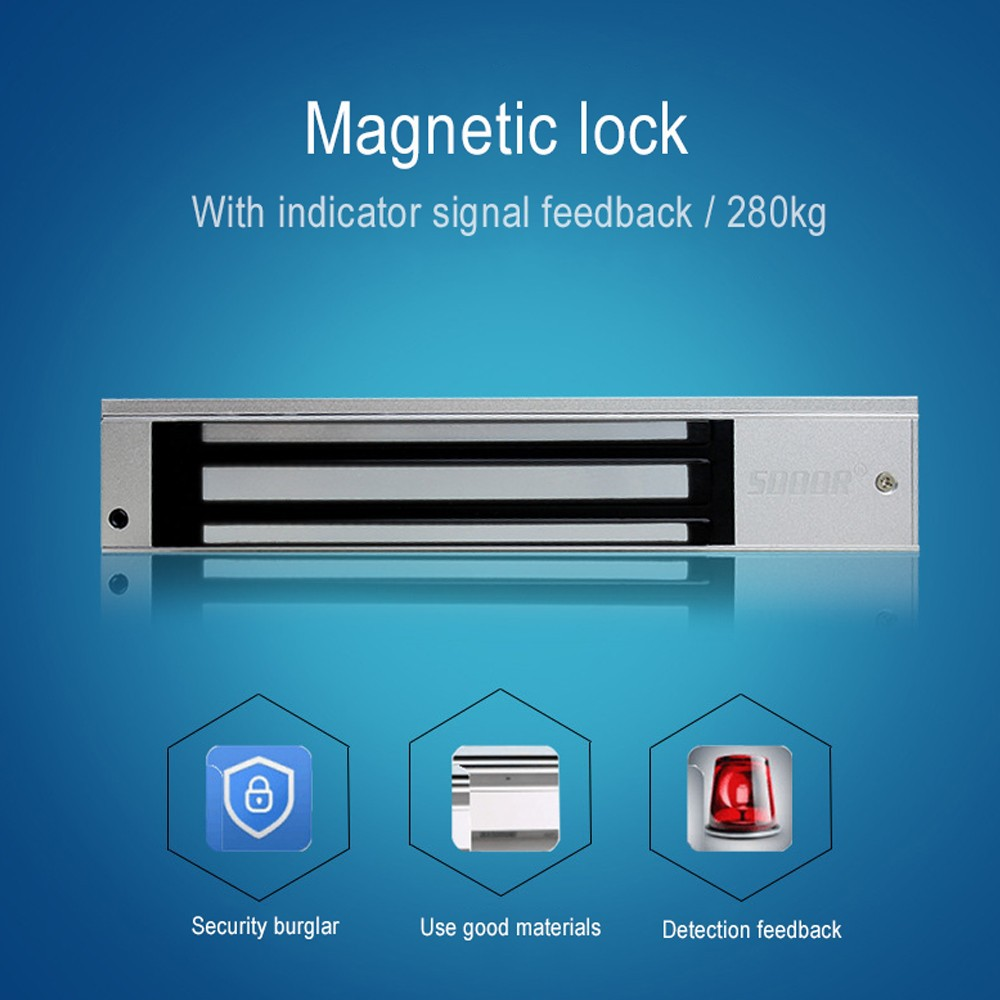 280KG 600Lbs DC 12V Electric Door Magnetic Lock For Access Control