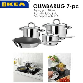 Oumbarlig 7 Piece Cookware Set Ikea Cookware Sets