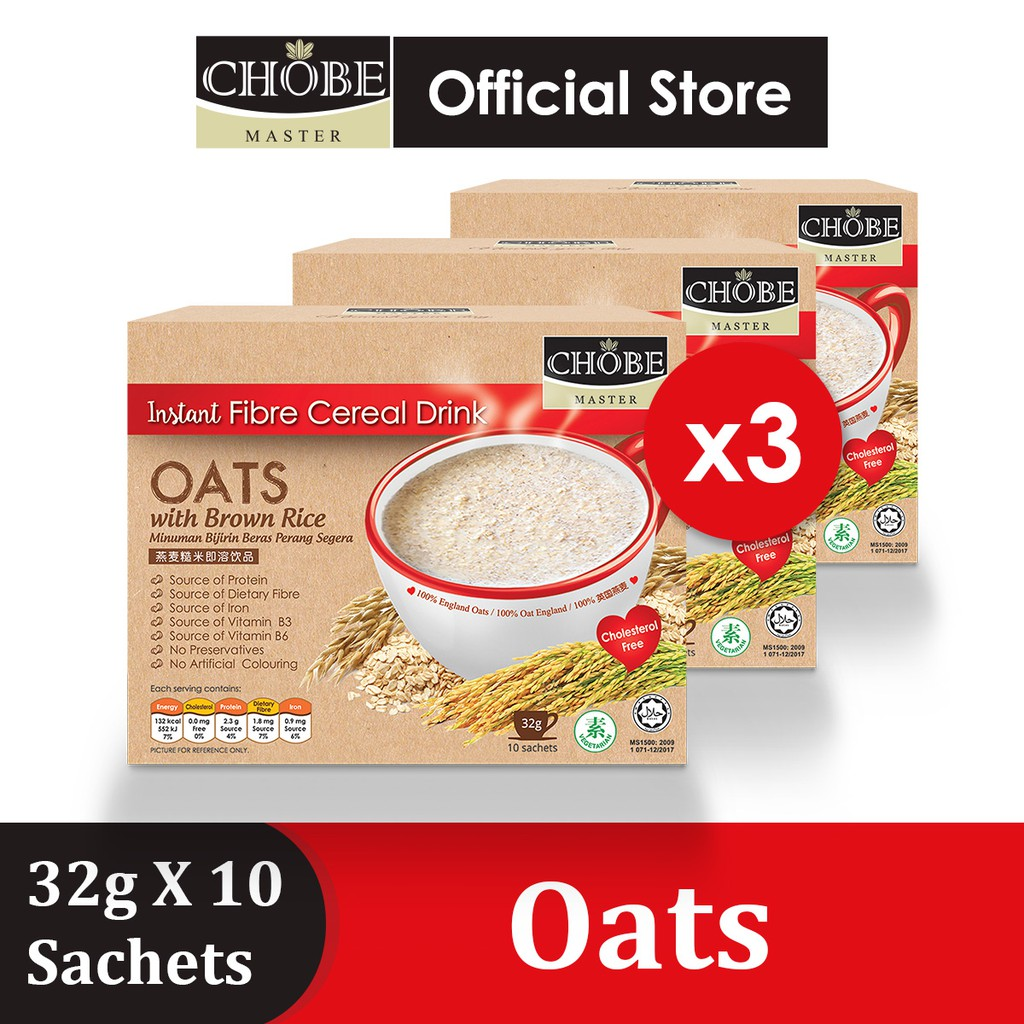 【Clearance】Chobe Master® Brown Rice Drink【Oatx3 + FREE Lassi Yogurt 50g】