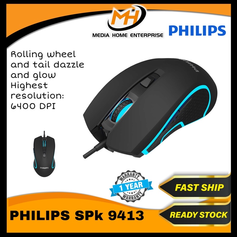 Philips Gaming Mouse SPK9413 - Optical Gaming Mouse
