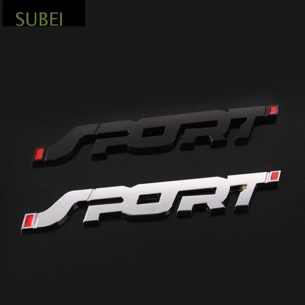Sliver Fashion SPORT Emblem Trunk Fender Badge Sticker Car 3D Logo Stickers