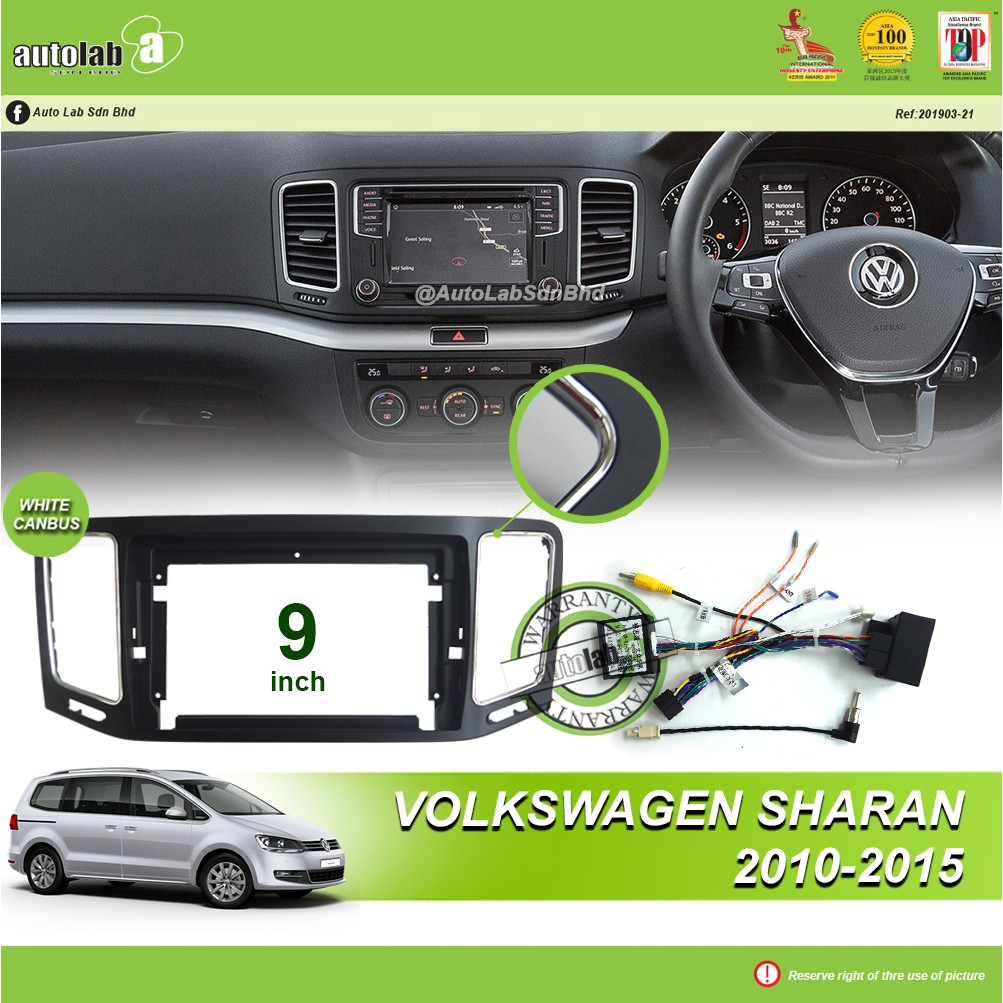 """Android Player Casing 9"""" Volkswagen Sharan 2010-2015 (with Canbus)"""