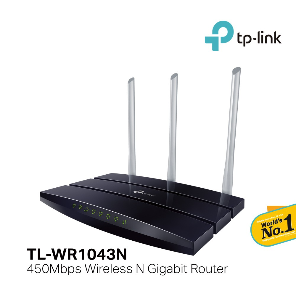 Tp Link Tl Wr1043n Ultimate 450mbps Wireless N Gigabit Router Wr940n 300mbps 3 Antenna Shopee Malaysia
