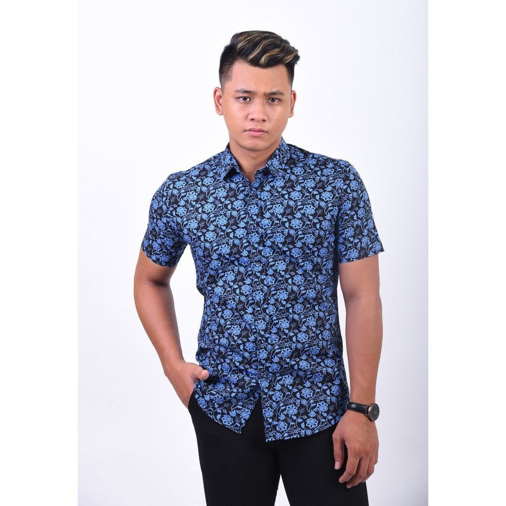 Kemeja Batik By Captains Outlet Ssb06 031 Shopee Malaysia Celana Pendek Motif Tartan Blx510