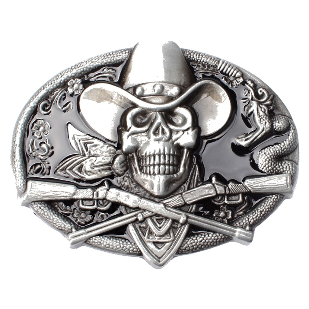 Vintage Pirate Skull Men/'s Belt Buckle for women Cowboy Native American Rodeo